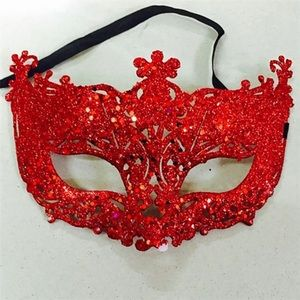 Gorgeous Red Masquerade Mask